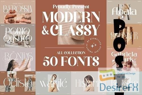 Mega Bundle 50 Modern Font - 6274294