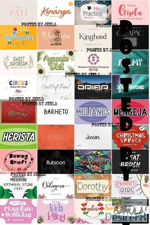 Mix Font Bundle 71 - 36 Premium Fonts