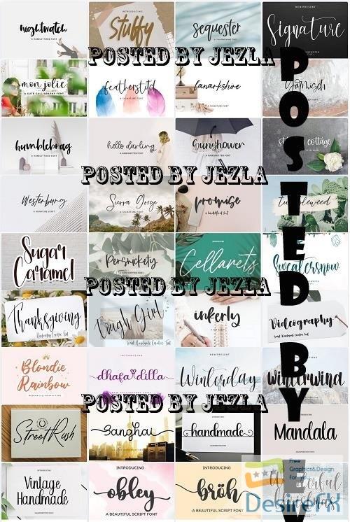 Mix Font Bundle 74 - 36 Premium Fonts