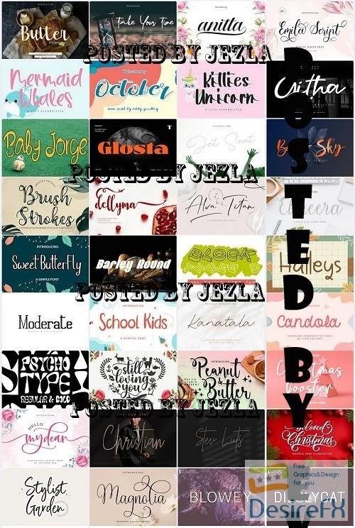 Mix Font Bundle 75 - 36 Premium Fonts