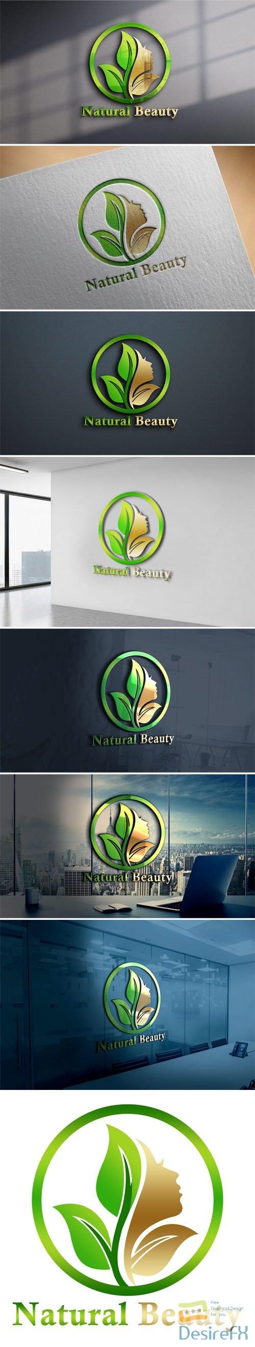 Natural Beauty Logo PSD Design Template