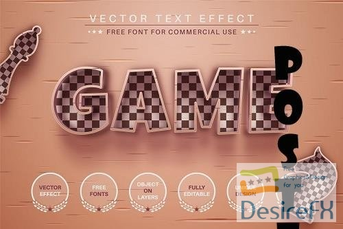 Old Chess Game Editable Text Effect - 6582861