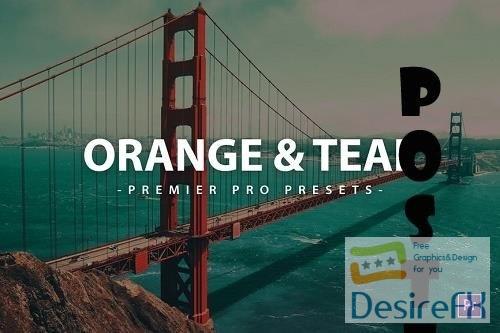 Orange & Teal Premier Pro Video Presets - QEKKR72