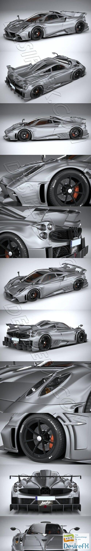 Pagani Imola 2021 3D Model
