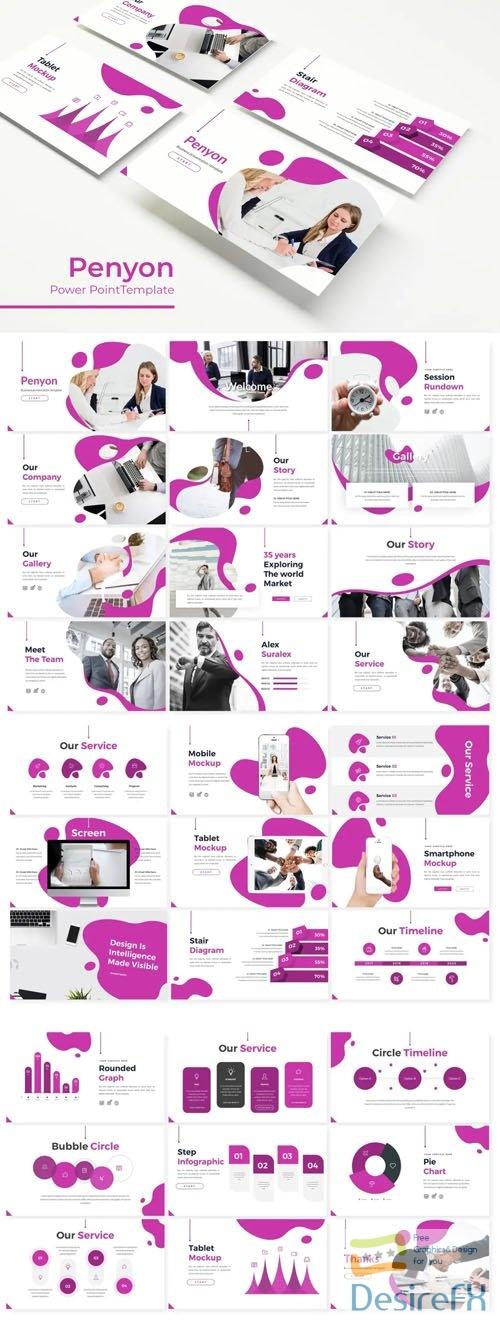 Penyon Presentation - 5 Colored Powerpoint Templates