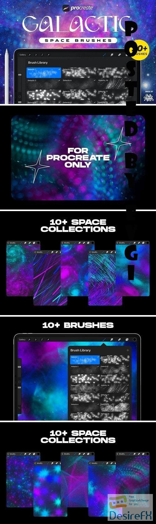 Procreate Galactic Space Brushes
