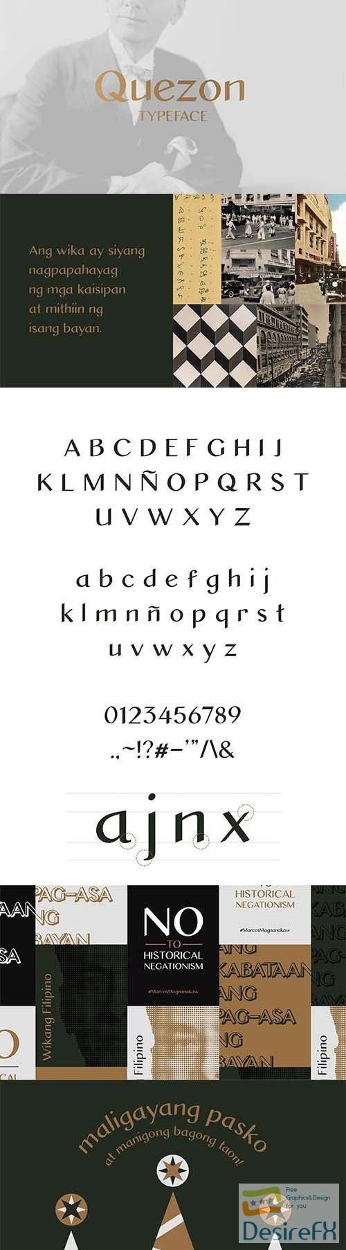 Quezon Sans Typeface