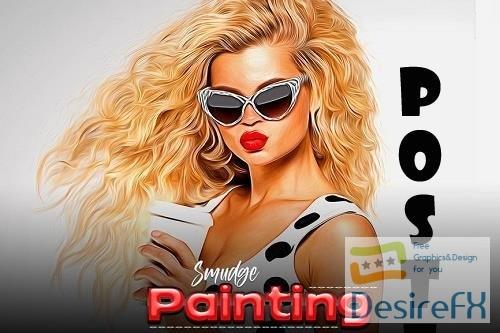 Smudge Painting Photoshop Action - ZVSJ53Z