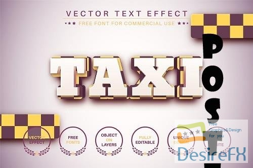 Taxi - Editable Text Effect - 6583028