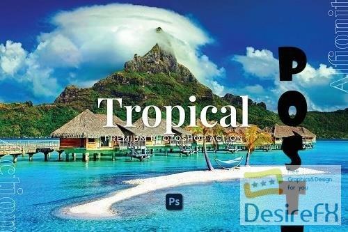 Tropical Photoshop Action - CLH8HMJ