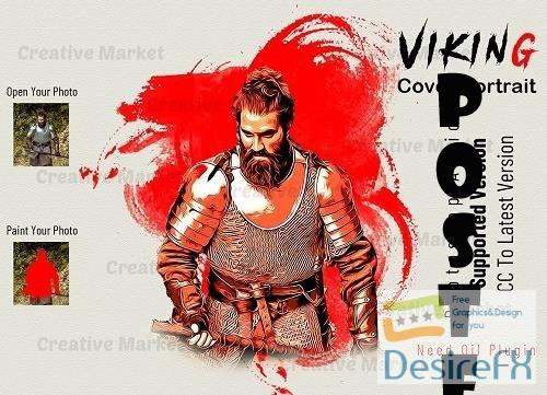 Viking Cover Portrait PS Action - 6584719