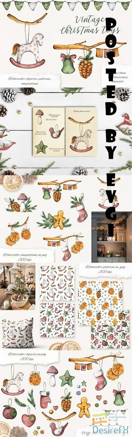 Vintage Christmas toys - 6591291