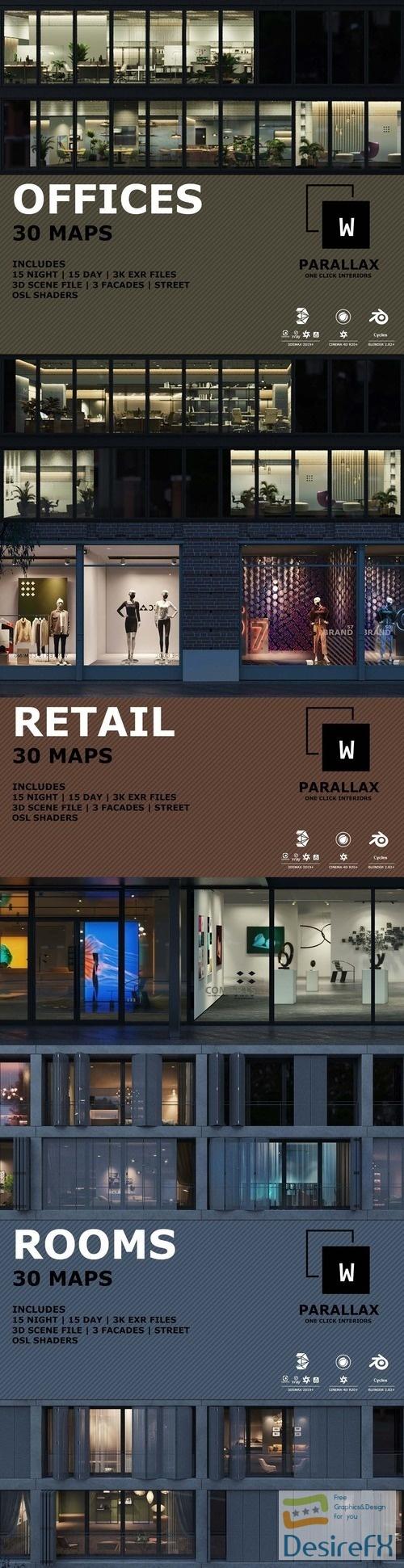 wParallax Bundle Pack 3D Models